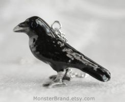 Raven Necklace by MonsterBrandCrafts