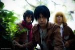 Shingeki no Kyojin cosplay group by altugisler