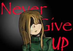 Never give up - by Mayolijntje