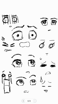 some cartoony expressions by AnarchistSubHuman