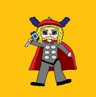 My Paint Program Drawing Of Thor by ZeldaLuv2014