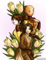 Lovely Jedi Trio by aimo