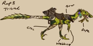 Concept art: Raptor 3 Tribal by Vivid-Red