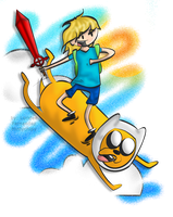 Finn and jake by Mintychipy