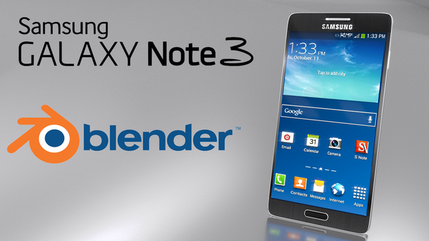 Samsung Galaxy Note 3 - Made with Blender 3D by sheldiner