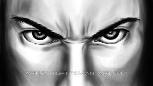 (Almost) Realistic Eyes -  Angry Stare by Shight