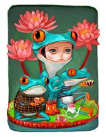Tea Time For Frogs by asterozea