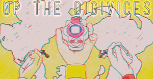 Up the Digivices - Digimon sign by Nekokan-L