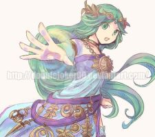 Request:Palutena with the Violet palm by doublejoker00