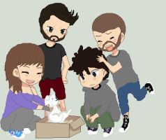Chibi Group W/ OC, GassyMexican, Nanners, Chilled by Captainsprinklez