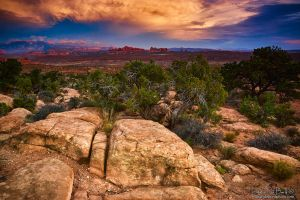 Sunset Over Arches National Park by kkart