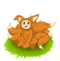 Baby Ninetails by jcnorn