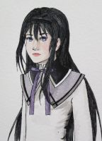 Homura watercolor by HollyRoseBriar