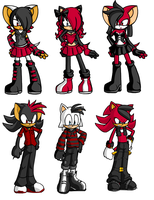Sonic Shadouge Adopts by Honey-PawStep