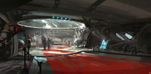 Spaceship Central Bridge concepts by SolarSouth