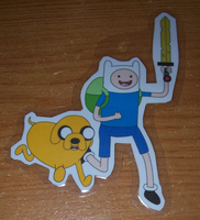 Adventure Time keychain by BlueSmudge