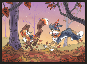 The fox and  the hound by griffsnuff