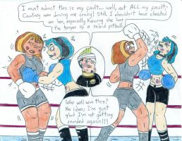 Boxing Courtney vs Gwen by Jose-Ramiro