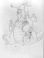 Dragonite's electric vore obsession by DarkAmphy