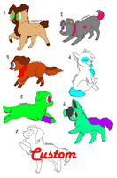 Adoptable Puppies by Blooxi
