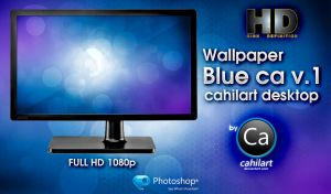Wallpaper CA cahilart Blue Desktop v.1 by CaHilART