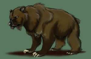 Cave Bear by FablePaint
