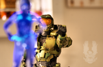 Master Chief and Cortana by skorpion78
