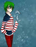Green Haired Idiot by SullyThePenguin