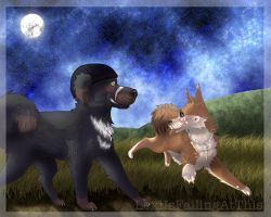 Dogs at Twilight by LexiIsFailingAtThis