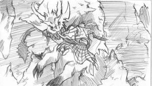 Monster hunter tri_ Pen sketch by kaizer33226