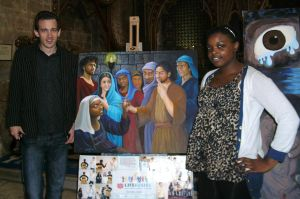 My St Peter painting at Bristol Cathedral by CaroleHumphreys