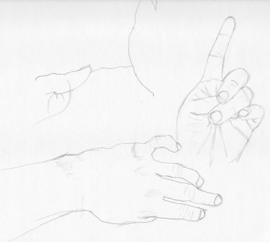 Hand Studies 2 by radstylix