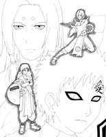 Kimimaro and Gaara by ToolOfTheDay