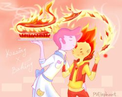 Kissing and Baking by PvElephant