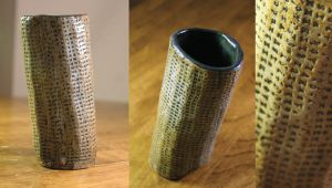 Topsy Turvey Text Tumbler by thewolvencanineclan