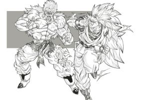 DBM: Goku U18 Vs Bojack U06 by bloodsplach