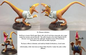 Dr. Dinosaur miniature completed by dvandom
