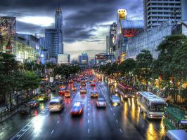 Bangkok - Thailand - Downtown by VainOz