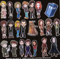 Doctor Who Magnets by vandonovan