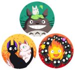 Ghibli Pins: Contrast Set by Risachantag