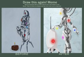Draw this again Humanoid GLaDOS by BioRockDude