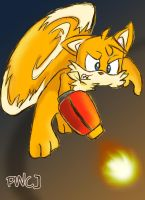 Tails Uber Cannon by playwithcolour