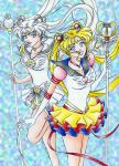 Eternal Sailor Moon and Cosmos by sailorangel