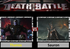 Death Battle: Thanos Vs Sauron by DarkKomet