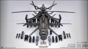 Fuujin Attack Helicopter Camo Ver. by MeganeRid