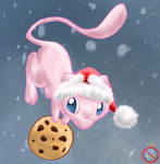 CE: Mew with cookie and xmas hat by shadowhatesomochao