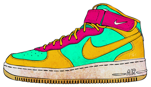 CMYK Air Force 1 by nicollearl