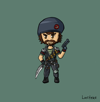 Special Forces Gangplank Sketch by Luctekz