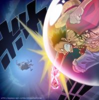 luffy fights by Bankai-no-jutsu