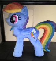 Rainbowdash Minky Plush 3 by JusticeOfElements